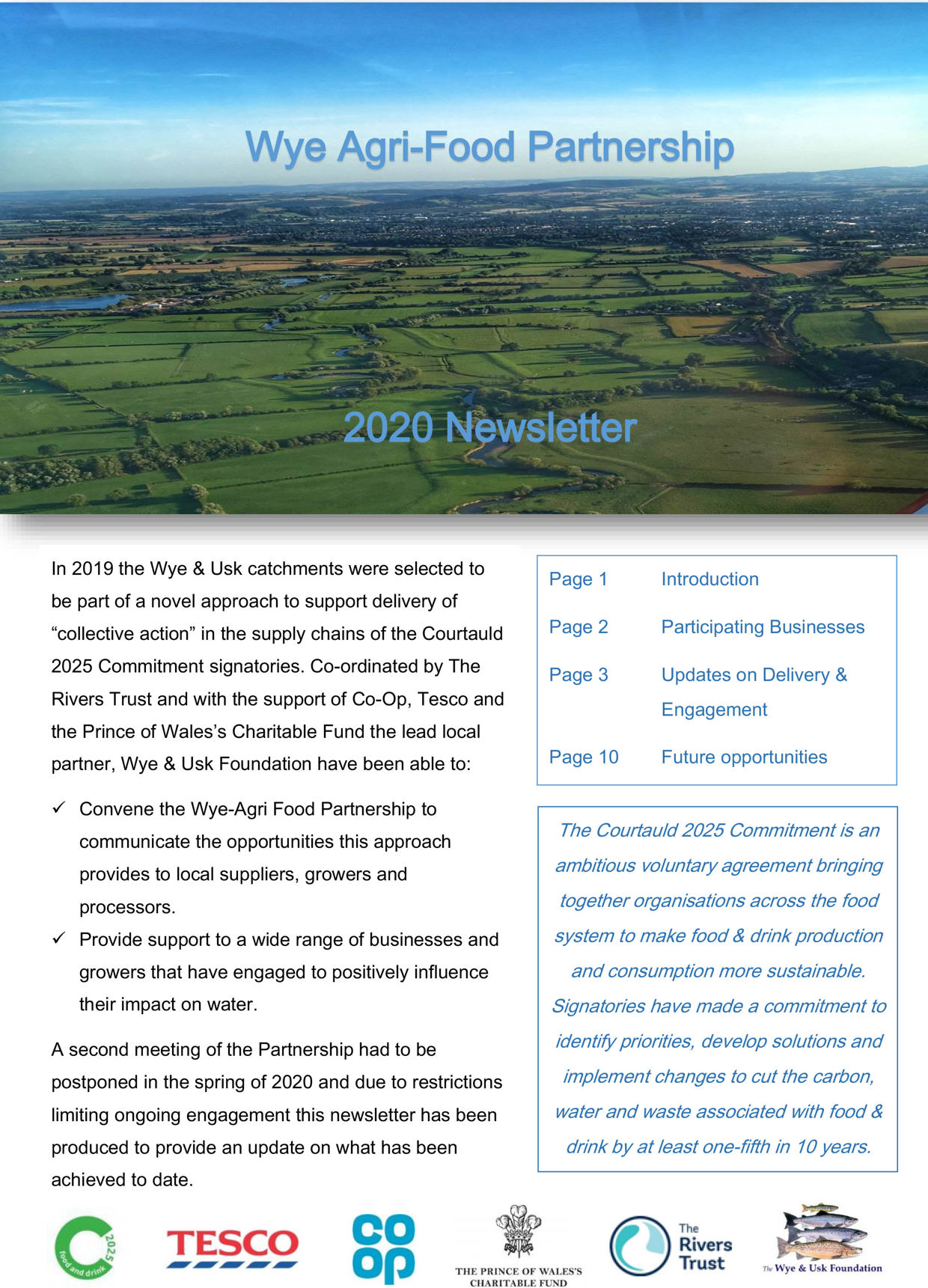 The 2020 Wye Agri Food Partnership Newsletter