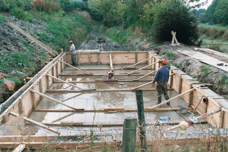 Construction of the Painscastle salmon hatchery