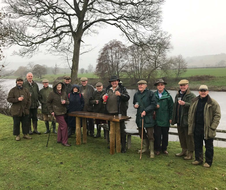 The Midland Fly Fishers toasted the start of the new season with a tot of Welsh whisky on the upper Wye.