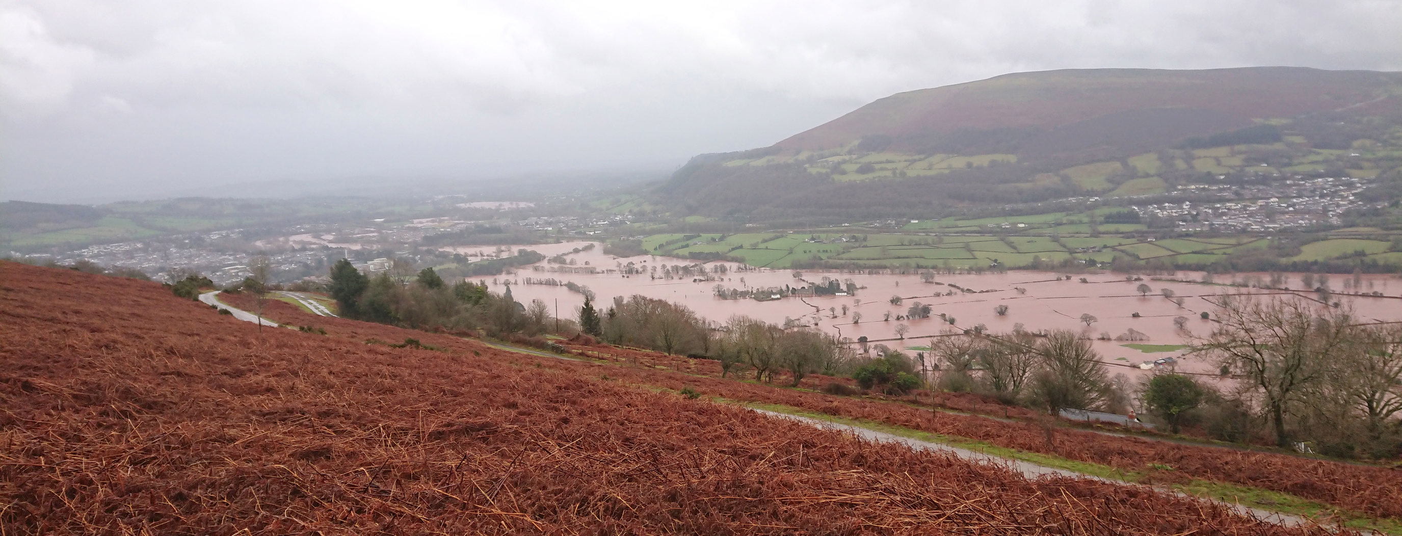 The Usk Valley near Abergavenny on Sunday